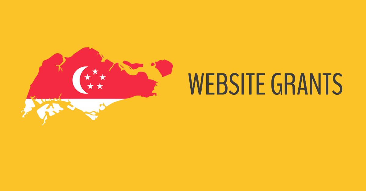 singapore website design grants